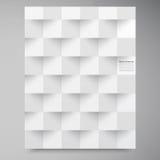 Vita fyrkanter för vektor. Abstrakt backround Arkivbilder