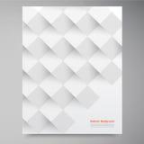 Vita fyrkanter för vektor. Abstrakt backround Arkivfoto