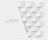 Vita fyrkanter för vektor. Abstrakt backround Royaltyfria Bilder