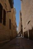 Vita gator av Jerusalem Arkivfoto