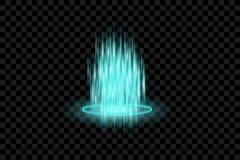 Vita gnistor blänker special ljus effekt Vektorn mousserar på genomskinlig bakgrund Julabstrakt begreppmodell Mousserande magi vektor illustrationer