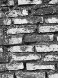 Vita Grunge och svart tegelstenvägg background Arkivbild