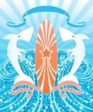 vita hajar vektor illustrationer