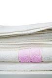 vita handdukar Fotografering för Bildbyråer