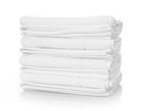 vita handdukar arkivfoton
