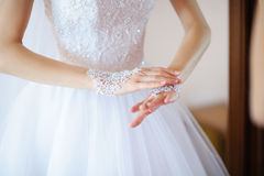 vita handskar Royaltyfri Fotografi