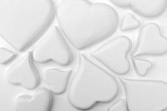 vita hjärtor Arkivfoto