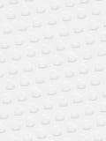 Vita hjärtor 3D på vit bakgrund Royaltyfria Bilder