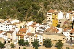 Vita hus för villa, typisk spanjor, Villafames lantlig villa i C Arkivbild