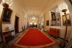 Vita Huset - arga Hall Royaltyfria Foton