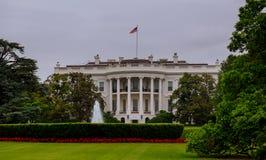 Vita Huset i Washington DC, är hemmet och uppehållet av presidenten av Amerikas förenta stater och den populära turist- attraen Royaltyfria Foton