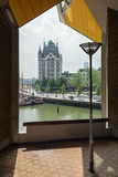 Vita Huset med det särskiljande tornet på den gamla porten av Ro Royaltyfri Fotografi
