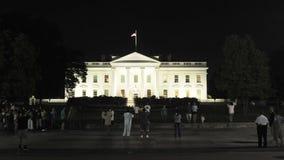 Vita Huset på natten stock video