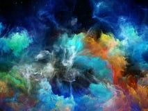 Vita interiore della nebulosa dello spazio illustrazione di stock