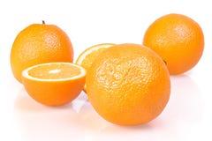 vita isolerade apelsiner Royaltyfria Foton