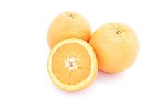 vita isolerade apelsiner Arkivfoton