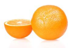 vita isolerade apelsiner Arkivbild