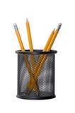 vita isolerade blyertspennor Arkivfoton