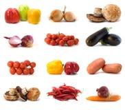 vita isolerade grönsaker Fotografering för Bildbyråer