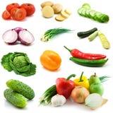 vita isolerade grönsaker Arkivbild