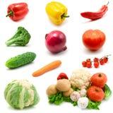 vita isolerade grönsaker Royaltyfri Fotografi