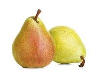 vita isolerade pears Arkivbilder