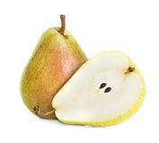 vita isolerade pears Arkivbild