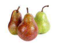 vita isolerade pears Fotografering för Bildbyråer