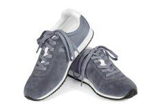 vita isolerade running skor Fotografering för Bildbyråer