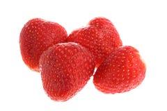 vita isolerade saftiga mogna jordgubbar Arkivfoton