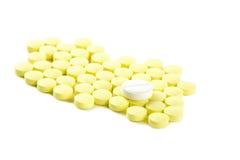 vita isolerade tablets Royaltyfri Bild
