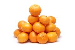 vita isolerade tangerines Arkivfoto