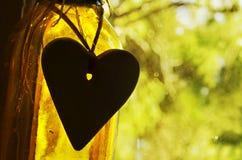 Vita ispiratrice di citazioni del fondo astratto di concetto, amore, cuore Fotografia Stock Libera da Diritti