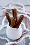 vita kanelbruna glass sticks Arkivbilder