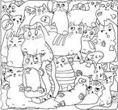 Vita katter, VEKTORöversikt vektor illustrationer