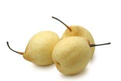 vita kinesiska pears Arkivfoto