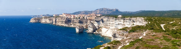 Vita klippor av Bonifacio Arkivbild