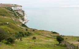 Vita klippor av Dover royaltyfria bilder