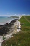 Vita klippor av södra England Fotografering för Bildbyråer