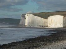 Vita klippor av Sussex Arkivbilder