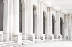 vita kolonner Arkivbild