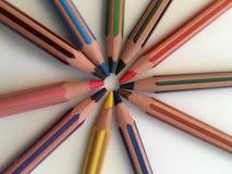 vita kulöra crayons för bakgrund Royaltyfria Foton