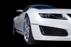 vita lyxiga sportar för bil Arkivbilder