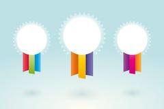 Vita medaljer royaltyfri illustrationer