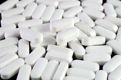 vita medicinpills Arkivfoton