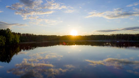 Vita nätter Finland Royaltyfria Bilder