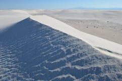 vita nationella nya sands för mexico monument Arkivbilder
