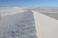 vita nationella nya sands för mexico monument Royaltyfri Bild