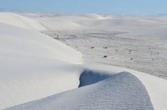 vita nationella nya sands för mexico monument Arkivbild