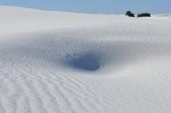 vita nationella nya sands för mexico monument Royaltyfria Foton